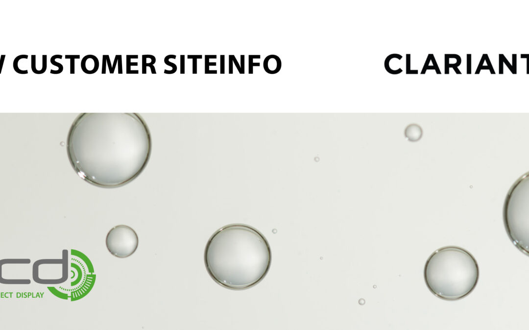 Clariant new customer in SiteInfo!